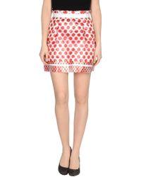 D&G Mini Skirt red - Lyst