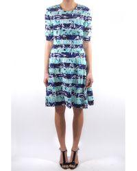 Kenzo Torn Printed Sheer Detail Dress - Lyst