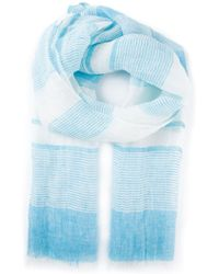 Kiton Striped Oversize Scarf - Lyst