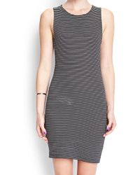 Forever 21 Textured Stripe Bodycon Dress - Lyst