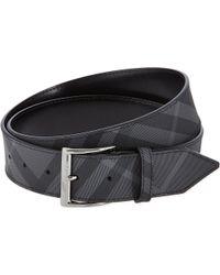 Burberry Cleydon Check Belt Black - Lyst