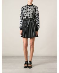 Fausto Puglisi Panelled Geometric Pattern Sweater - Lyst