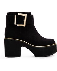 Asos Extra Terrestrial Cut Out Ankle Boots - Lyst