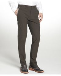 Etro Brown Stretch Cotton Flat Front Pants - Lyst
