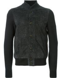 Emporio Armani Perforated Detail Bomber Jacket - Lyst