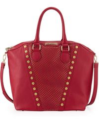 Betsey Johnson Rosette Stud V Trim Tote Bag - Lyst