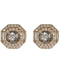 Monique Pean Atelier - Mixed-diamond Octagonal Studs - Lyst