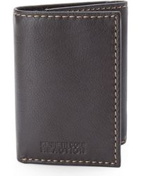 Kenneth Cole Reaction Brown Traveler Tri-fold Wallet - Lyst