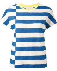 Tory Burch Striped T-Shirt - Lyst
