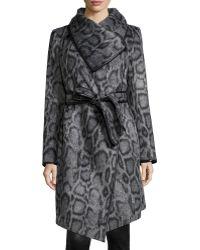 Diane von Furstenberg | Polly Animal-print Belted Coat | Lyst