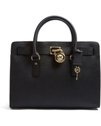 Michael by Michael Kors Black Saffiano Hamilton East West Tote - Lyst