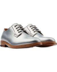 Marc Jacobs - Leather Lace-Ups - Silver - Lyst