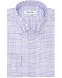 Calvin Klein River Rock Checked Dress Shirt - Lyst