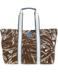 Tory Burch Printed Canvas Tote - Lyst