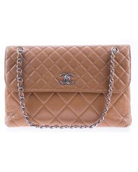 Chanel | Pre-owned: In The Business Lambskin Leather Flap Bag | Lyst