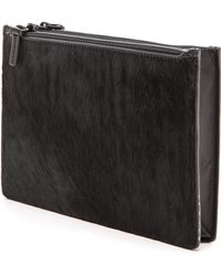 Helmut Lang Baryon Small Fur Pouch  Black - Lyst