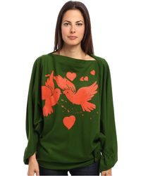 Vivienne Westwood Gold Label Infinity Birds Poncho - Lyst
