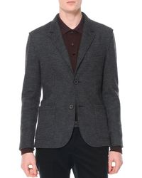 Lanvin Small-houndstooth Soft Jacket - Lyst