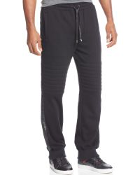 Sean John Faux-leather-striped Night Joggers - Lyst