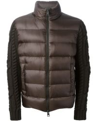 Herno Cable Knit Sleeves Padded Jacket - Lyst