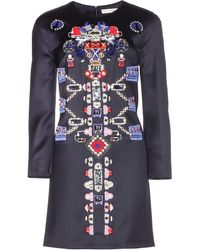 Mary Katrantzou Embellished Wool Dress - Lyst