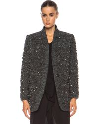 Isabel Marant Ta Sequin Over Wool-blend Jacket - Lyst