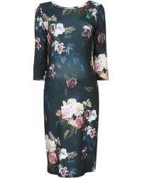 Topshop Maternity Blur Rose Print Bodycon Dress - Lyst