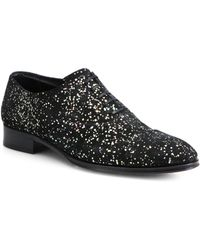 Alexander McQueen Paint Splatter Leather Oxfords - Lyst