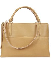 COACH - Borough Camel Leather Tote - Lyst