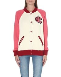 Juicy Couture Varsity Knitted Bomber Jacket - Lyst