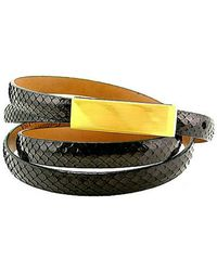 Leighelena - Single Black Anaconda Licorice Belt - Lyst