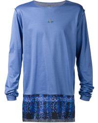 Vivienne Westwood Contrasting Hem T-Shirt - Lyst
