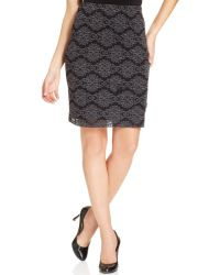 Karen Kane Filigree Pencil Skirt - Lyst