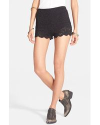Free People Floral Lace Biker Shorts - Lyst