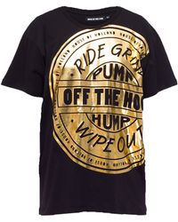 House Of Holland Off The Pump Foil Tee - Lyst