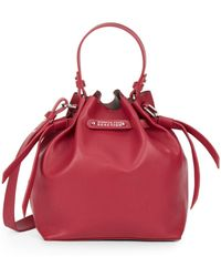 Kenneth Cole Reaction Faux Leather Mini Bucket Bag red - Lyst