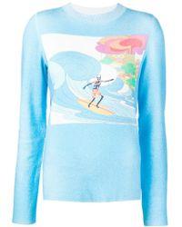 Lucien Pellat Finet - Surf Print Sweatshirt - Lyst