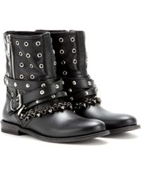 Burberry Brit - Jude Embellished Leather Boots - Lyst