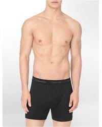 Calvin Klein 3 Pack Cotton Boxer Briefs - Lyst