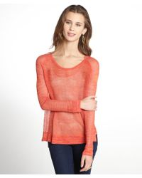 Rag & Bone Coral and Orange Mesh Raglan Top - Lyst