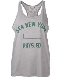 Sea Graphic Print Tank - Lyst