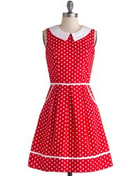 Folter Inc | All Eyes On Unique Dress In Dotty | Lyst