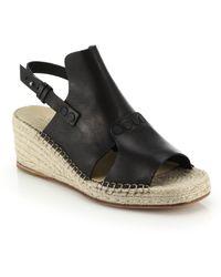 Rag & Bone Sayre Ii Leather & Espadrille Wedge Sandals - Lyst