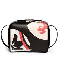 Alexander McQueen 'Legend' Kansai Circles Leather Box Bag black - Lyst