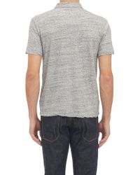 James Perse Mélange Polo - Lyst