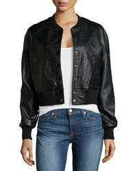 Raison D'etre Faux-leather Baseball Jacket - Lyst