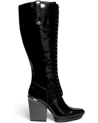3.1 Phillip Lim Juno Metal Pin Leather Boots - Lyst
