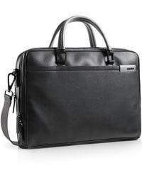Calvin Klein White Label Bradon Slim Double Computer Commuter Bag black - Lyst