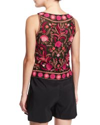 Naeem Khan - Sleeveless Thread-embroidered Top - Lyst