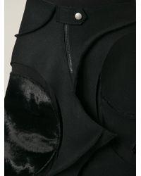 Junya Watanabe Circles Melton Asymmetric Skirt - Lyst